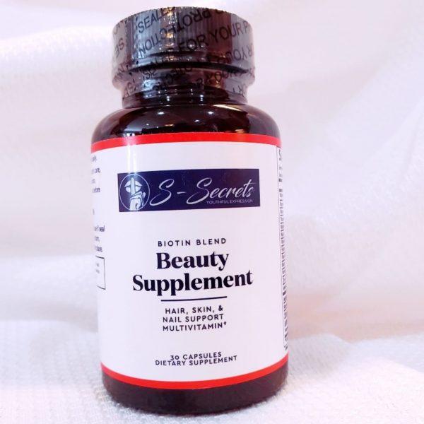 S-Secrets Advanced Biotin Blend Beauty Supplement. Healthy Hair, Skin & nail Vitamins